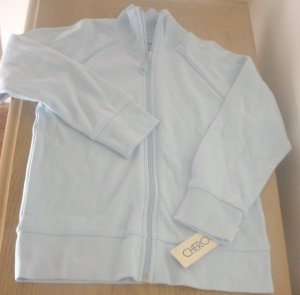 NEW Girls SWEATSHIRT JACKET Cherokee Zip Front with Pockets XL 14/16 BLUE Brushed Cotton