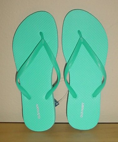 NEW Ladies FLIP FLOPS Old Navy Thong Sandals SIZE 11M TURQUOISE Shoes NEW