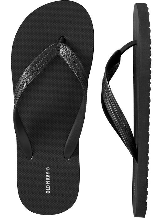 NEW Mens FLIP FLOPS Old Navy Sandals SIZE 8-9 BLACK Shoes