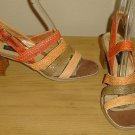 NEW Ladies SANDALS HEELS Multi Strap Shoes 7.5M Multicolor