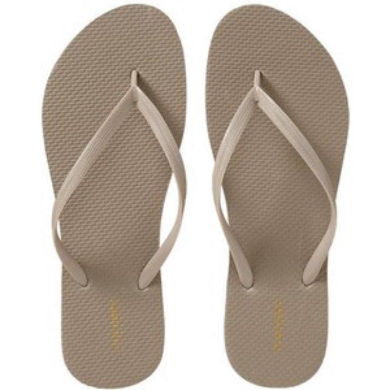 NEW Ladies FLIP FLOPS Old Navy Thong Sandals 10M (40) TAN Shoes