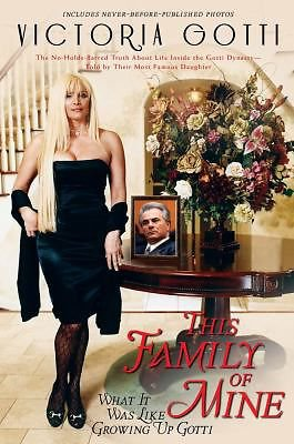 New THIS FAMILY OF MINE by Victoria Gotti 2009 Hardcover Memoir Book