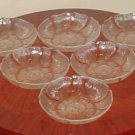NEW Arcorac DISH SET Assiette Fleur 6 PIECE SET French Clear Glass dessert nuts candy bowls