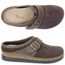 NEW Ladies BASS CLOGS Delyse Shoes SIZE 11M DARK BROWN SUEDE