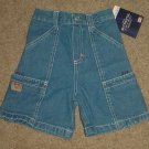 NWT Boys DENIM CARGO SHORTS Faded Glory 4T INDIGO BLUE Cotton