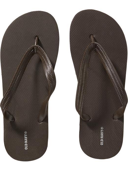 NWT Mens FLIP FLOPS Old Navy Sandals SIZE 12-13M DARK BROWN Shoes