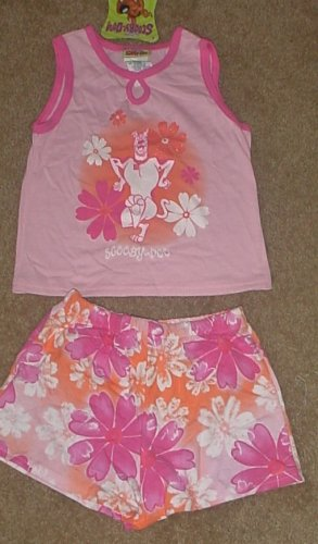 NWT Girls SCOOBY DOO SHORT SET 2 Piece SIZE 6/6X PINK Cotton Blend