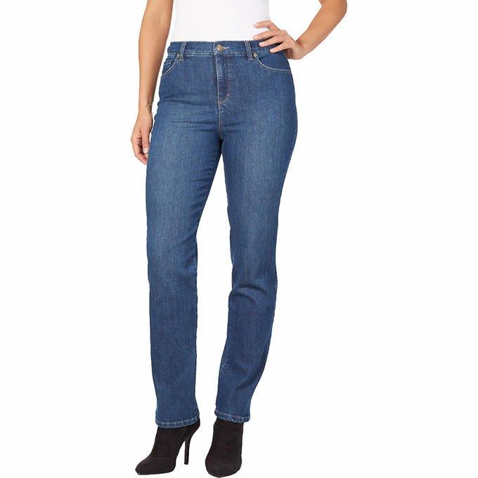 NWT Gloria Vanderbilt JEANS Amanda Stretch Pants SIZE 16 LONG Phoenix Blue