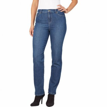 NWT Gloria Vanderbilt JEANS Amanda Stretch Pants SIZE 16 LONG Phoenix Blue