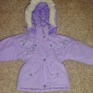 NEW Girls PUFFER COAT Toddler Outbrook Kids Hooded Jacket SIZE 2T Lavendar