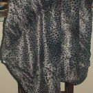 New FUR THROW Plush Ultra Warm Home Decor 50x68 Leopard Print GRAY/BLACK Washable