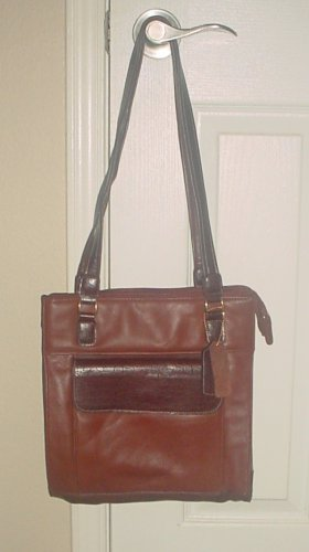 NEW Carriage House PURSE SHOULDERBAG Multi Compartments Bag COGNAC Leather