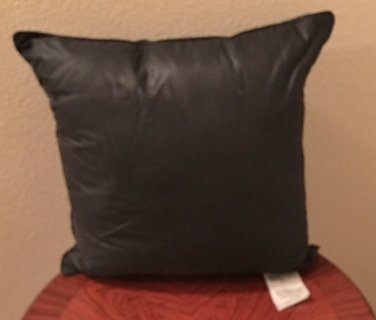 NWT Decorative CHINTZ PILLOW Cotton Blend SQUARE 14x14 BLACK Home