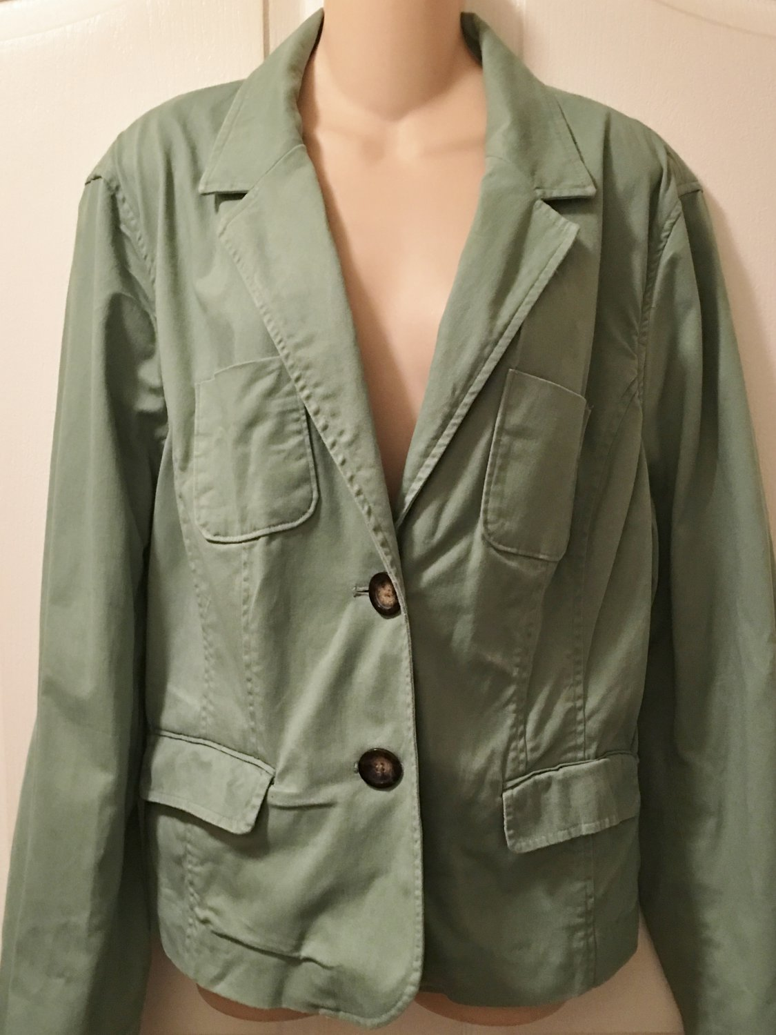 NEW Ladies BLAZER Mossimo Jacket XXL Cotton Blend SAGE ...