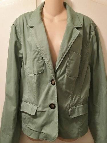 NEW Ladies BLAZER Mossimo Jacket XXL Cotton Blend SAGE GREEN w/Pockets