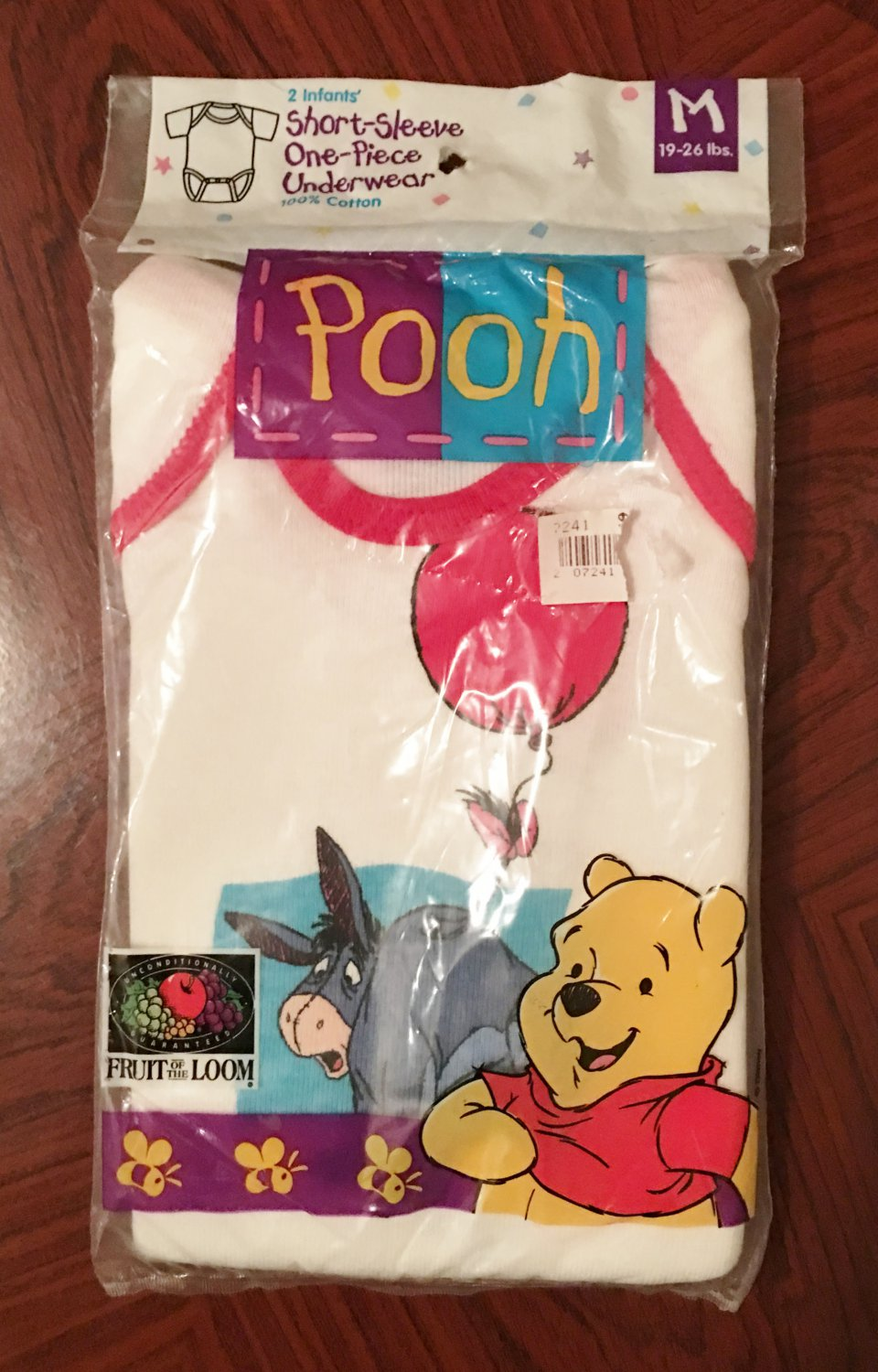 NWT Baby WINNIE the POOH Eeyore Infant One Piece Bodysuits MEDIUM 100% Cotton 2 PACK
