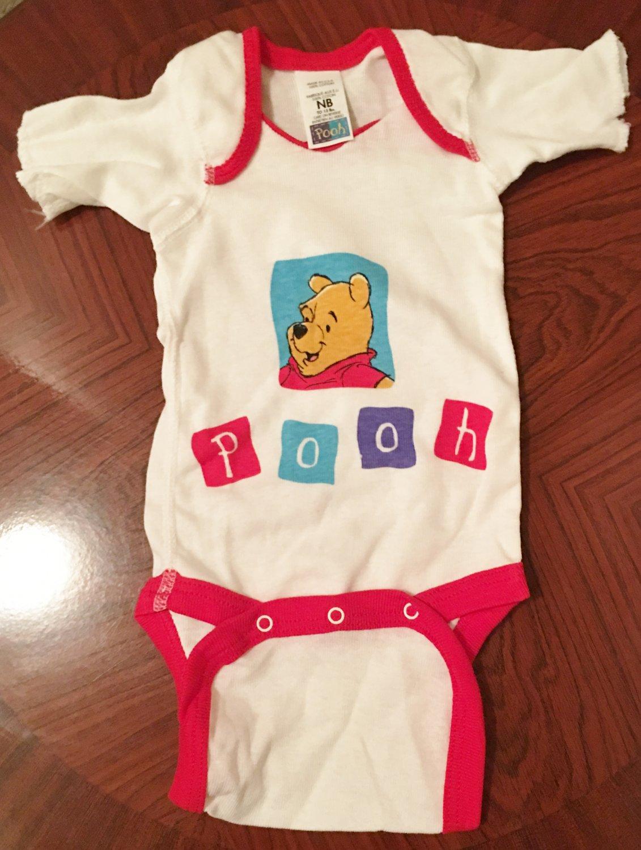 NEW Baby WINNIE the POOH One Piece Infant Bodysuit NEWBORN 100% Cotton