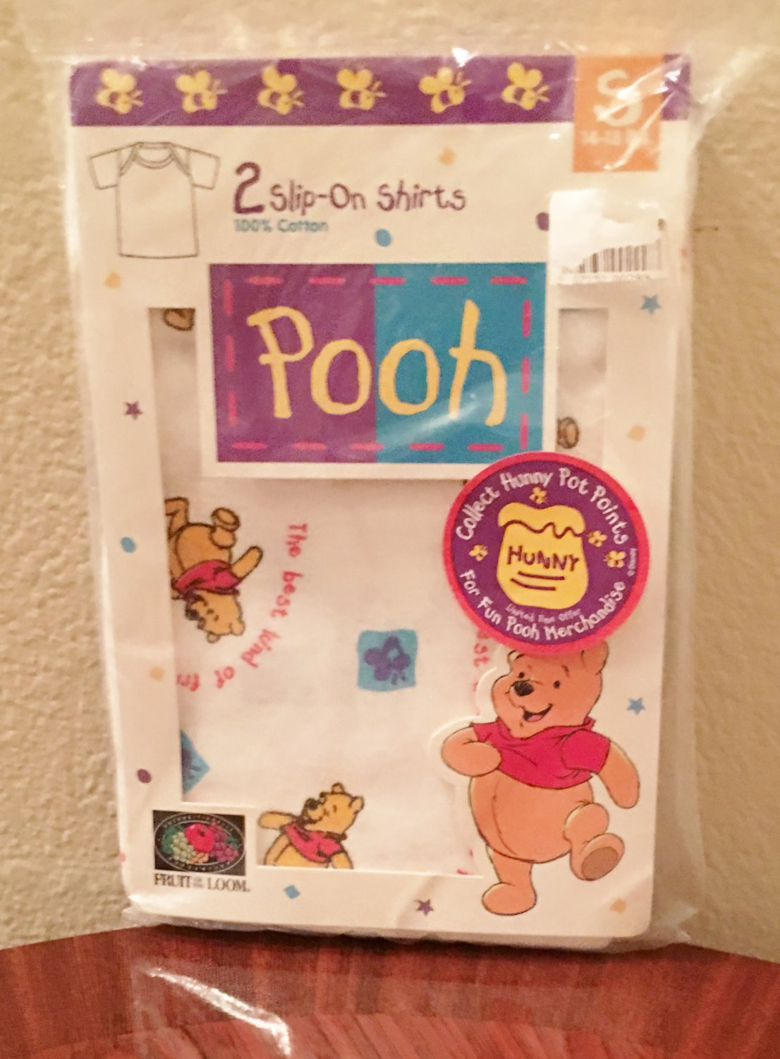NWT Baby WINNIE the POOH Infant SLIP ON SHIRTS SMALL (14-18 lbs) 100% Cotton 2 PACK