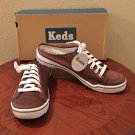NIB Ked's SNEAKER MULES Ladies Athletic SIZE 11 BROWN Canvas Comfort Shoes