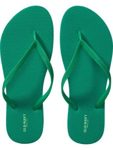 NEW Old Navy FLIP FLOPS Ladies Thong Sandals SIZE 11 EMERALD GREEN Shoes