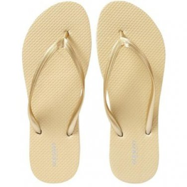 NWT Ladies FLIP FLOPS Old Navy Thong Sandals SIZE 8 GOLD Shoes pool beach