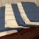 New KITCHEN TOWELS 6 Piece Set Chefs Pantry Dish Towels BLUE Home