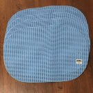 New WAFFLE WEAVE PLACE MATS Set of 6 OVAL 12 x 18 ROBINS EGG BLUE Indoor/Outdoor