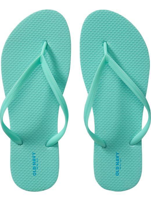 NEW Ladies FLIP FLOPS Old NavyThong Sandals SIZE 11 SEAFOAM GREEN Shoes