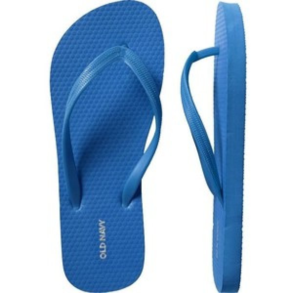 NWT MENS Old Navy FLIP FLOPS Sandals SIZE 12-13 ROYAL BLUE Shoes pool beach