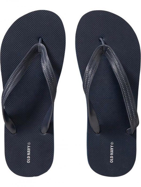 NEW Mens FLIP FLOPS Old Navy Sandals SIZE 12-13 NAVY BLUE Shoes pool beach