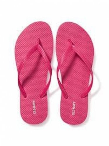NEW Womens Old Navy FLIP FLOPS Thong Sandals SIZE 9 BRIGHT PINK Shoes