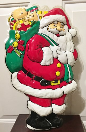 New CHRISTMAS DECOR Door Wall Hang SANTA CLAUS Holiday Home
