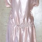 NEW Junior's SATIN MINI DRESS  Cinch Waist SIZE 5/6 BLUSH PINK