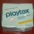 PLAYTEX GENTLE GLIDE TAMPONS Regular Non-Deodorant 50 COUNT Box/Sealed