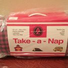 NEW Toddler TAKE-A-NAP ROLL All in One PORTABLE Tot bedding PINK/NAVY CHECK