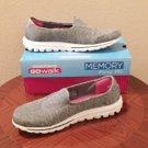 NIB SKECHERS GO WALK Ladies Athletic Shoes SIZE 11 GRAY Memory Foam Comfort