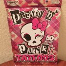 New PRETTY N PUNK TATTOOS Kids  Temporary Pretend Play SHEET OF 50