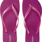 LADIES Old Navy FLIP FLOPS Thong Sandals SIZE 11 FUCSHIA PINK Shoes