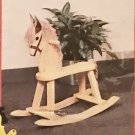 Kids Krew WOODEN ROCKING HORSE Toddler Toy with Mane and Tail NEW in BOX