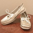 NEW Ladies SPERRY TOP SIDER Shoes Boat Deck SIZE 11 GOLD Leather Loafer Flats