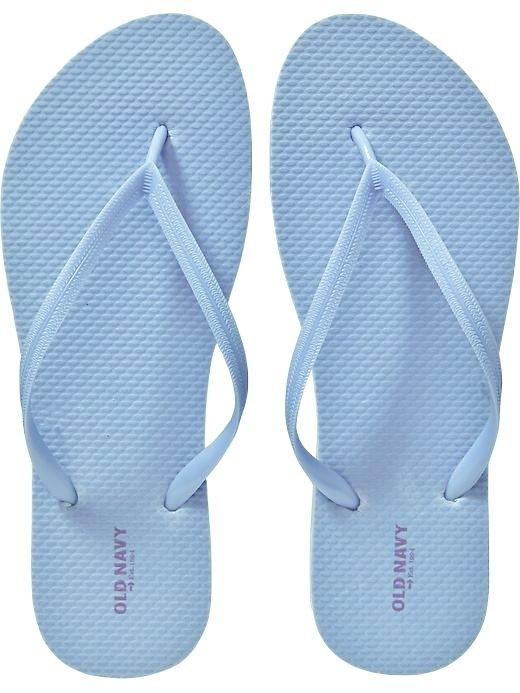 9cf358aa825d New LADIES Old Navy FLIP FLOPS Thong Sandals SIZE 6M LIGHT BLUE Shoes