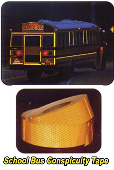 1 Inch Yellow School Bus Conspicuity Reflective Tape