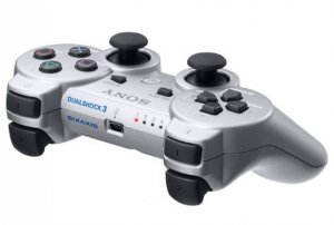 SILVER PS3 DUAL SHOCK 3 CONTROLLER WIRLESS RUMBLE ! NEW COLOR