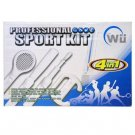 Premium Nintendo Wii 4 in 1 Sport Kit - (Baseball + Golf + Wheel + Tennis)