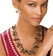 Multistrand Tiger's Eye Necklace Gift Set