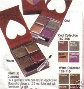 Avon Heart Compact Lip Gloss Lip Color NIP ~ Cool Discontinued location2