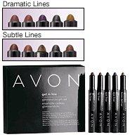 Avon Get In Line Glimmersticks Gift Set Dramatic Lines ~ Purse Size location2