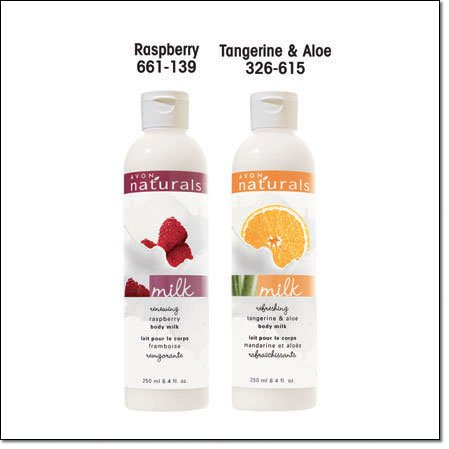 Avon Naturals Body Milk  Lotion ~ Renewing Raspberry ~ Discontinued