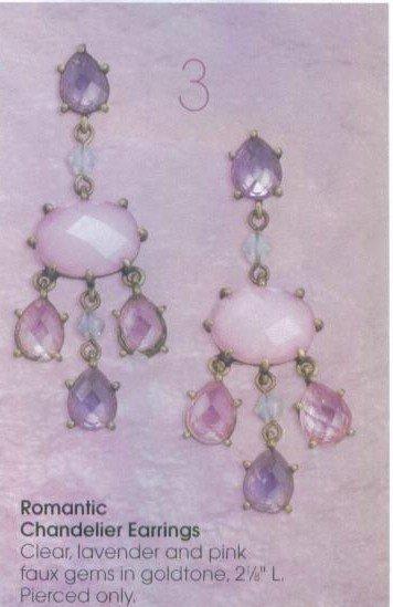 Avon Romantic Chandelier Earrings ~ Goldtone Gemstone Costume  Jewelry