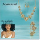 Avon 3 Piece Filigree Flower Necklace Gift Set ~ Goldtone Costume Jewelry